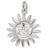 Sterling Silver Dominica Sun Large Charm