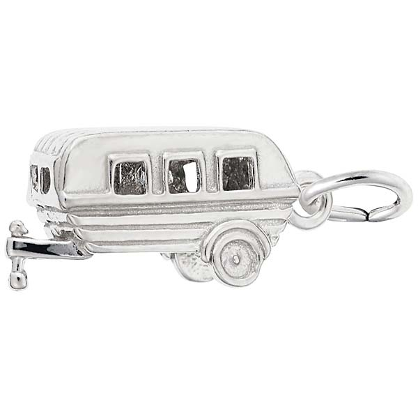 14K White Gold Camping Trailer Charm by Rembrandt Charms