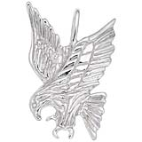 Sterling Silver Eagle Pendant Charm by Rembrandt Charms