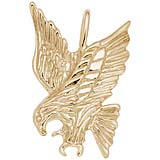 Gold Plated Eagle Pendant Charm by Rembrandt Charms