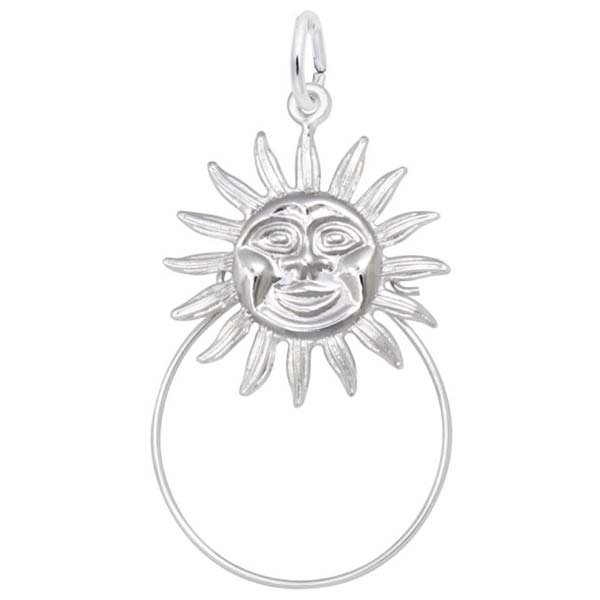 14K White Gold Sunshine Charm Holder by Rembrandt Charms